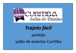videos explicando como chegar ao salão de eventos Curitiba